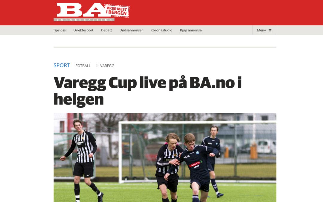 Varegg Cup sendes direkte på BA.no